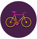 Bicicleta colorida en la oscuridad Imágenes de archivo libres de regalías