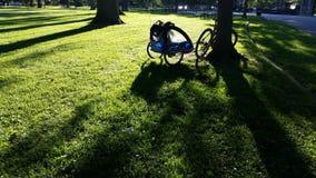 Bicicleta com reboque Imagens de Stock