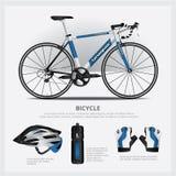 Bicicleta con el accesorio Fotografía de archivo libre de regalías