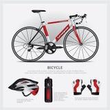 Bicicleta con el accesorio Imagen de archivo libre de regalías