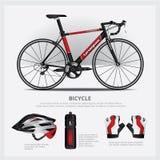 Bicicleta con el accesorio Imagen de archivo