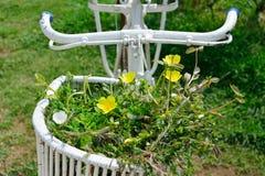 Bicicleta con la decoración de las flores Fotografía de archivo libre de regalías