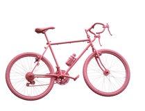 bicicleta cor-de-rosa do esporte no fundo branco Fotos de Stock Royalty Free