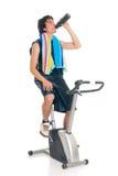 Bicicleta da aptidão do adolescente fotos de stock royalty free