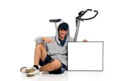 Bicicleta da aptidão do adolescente imagem de stock royalty free