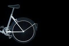 Bicicleta da bicicleta no estilo de Wireframe do holograma Rendição 3D agradável Imagens de Stock Royalty Free