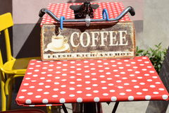 Bicicleta da mesa de centro fotos de stock