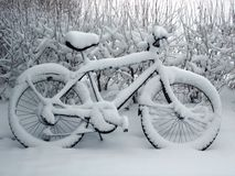 Bicicleta da neve Fotos de Stock