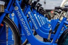 Bicicleta da parte de Melbourne fotografia de stock