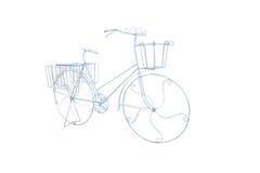 Bicicleta de doblez del alambre de acero para la maceta Fotografía de archivo
