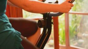 A bicicleta de exercício dá certo Imagem de Stock Royalty Free
