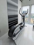 Bicicleta de exercício no gym Fotos de Stock Royalty Free