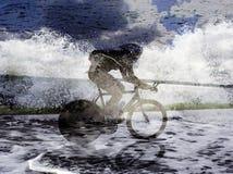 Bicicleta de la acción Fotografía de archivo libre de regalías