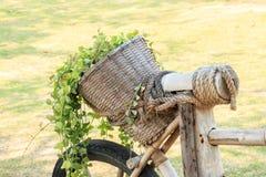 Bicicleta de la cesta Imagen de archivo