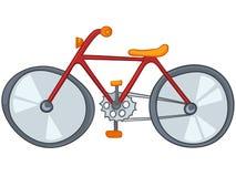Bicicleta de la historieta Fotos de archivo