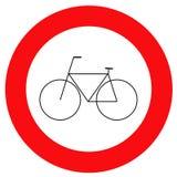 Bicicleta de la señal de tráfico imagen de archivo