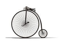 Bicicleta de la vendimia stock de ilustración