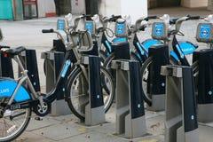 Bicicleta de Londres que comparte esquema fotos de archivo