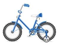 Bicicleta de los cabritos para una ilustración del muchacho Fotos de archivo