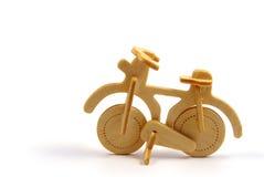 Bicicleta de madera Foto de archivo libre de regalías