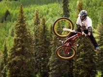 Bicicleta de Slopestyle fotografia de stock