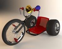 Bicicleta de tres ruedas en un fondo blanco ilustración del vector