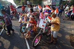 Bicicleta decorativa Fotografía de archivo