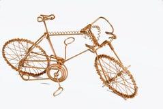 Bicicleta del arte del alambre Fotografía de archivo libre de regalías
