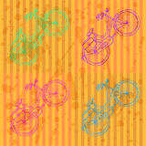 Bicicleta del bosquejo, fondo del vintage del vector Fotografía de archivo libre de regalías