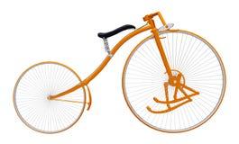 Bicicleta del pedal aislada en el fondo blanco ilustración del vector