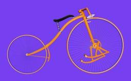 Bicicleta del pedal aislada en fondo azul ilustración del vector