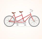 Bicicleta del tándem del vintage Vector Fotos de archivo