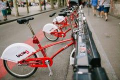 Bicicleta do aluguel em Barcelona Fotografia de Stock