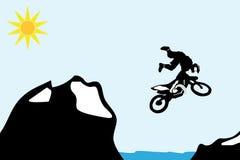 Bicicleta do motocross ilustração stock