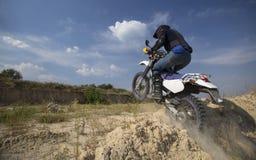 Bicicleta do motocross imagem de stock