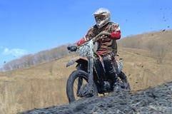 Bicicleta do motocross em uma raça Fotos de Stock Royalty Free