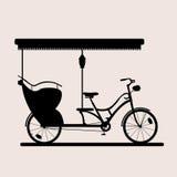 Bicicleta do passageiro pesada Ilustração do Vetor