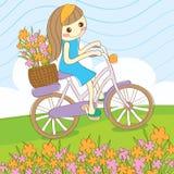 Bicicleta do passeio do verão Foto de Stock