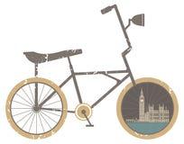 Bicicleta do símbolo moderna, curso e estilo de vida saudável, Imagens de Stock Royalty Free