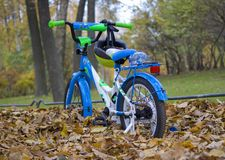 bicicleta do ` s das crianças no parque imagem de stock royalty free