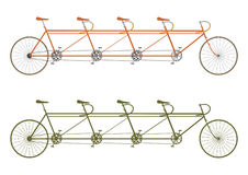 Bicicleta do tandem do vintage ilustração stock