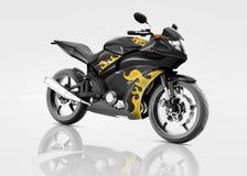 Bicicleta do velomotor da motocicleta que monta Rider Contemporary Concept ilustração stock