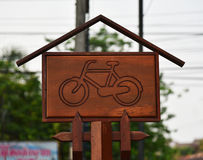 Bicicleta dos sinais imagem de stock royalty free