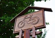 Bicicleta dos sinais fotos de stock