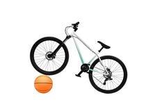 Bicicleta e basquetebol Fotografia de Stock Royalty Free