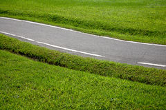 Bicicleta e a estrada Foto de Stock