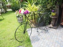 Bicicleta e flor Fotografia de Stock Royalty Free