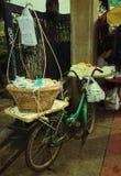 Bicicleta e flor Fotografia de Stock