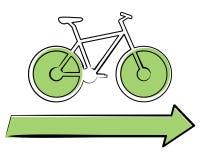 Bicicleta ecológica Ilustração Royalty Free