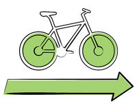 Bicicleta ecológica Foto de Stock Royalty Free